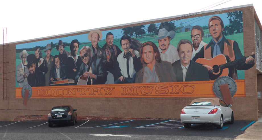 Dothan mural Country music stars