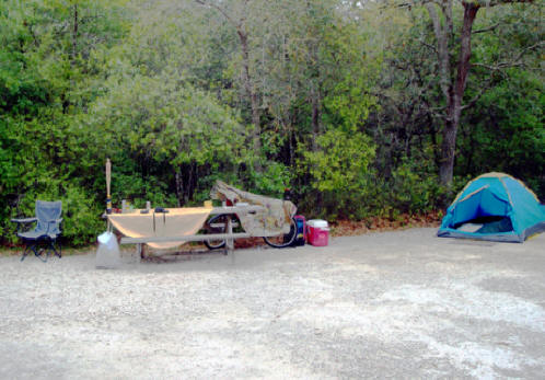 Campsite at Silver Springs State Park near Ocala, Flofids