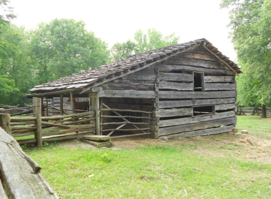 outbuilding at Lincoln Pioneer Village and Museum at Little Pigeon Creek in Spencer County