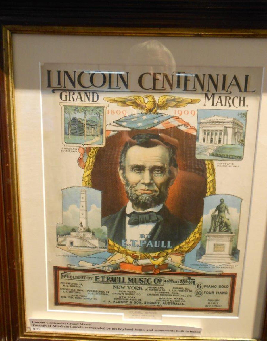 Lincoln poster at Lincoln Pioneer Village and Museum at Little Pigeon Creek in Spencer County