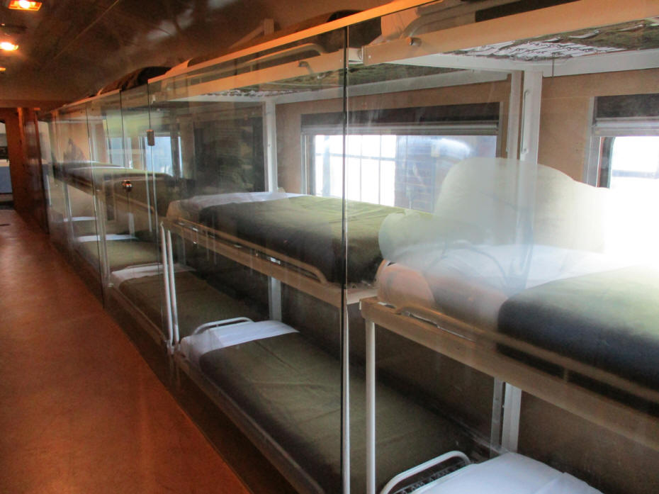 inside of hospital train car