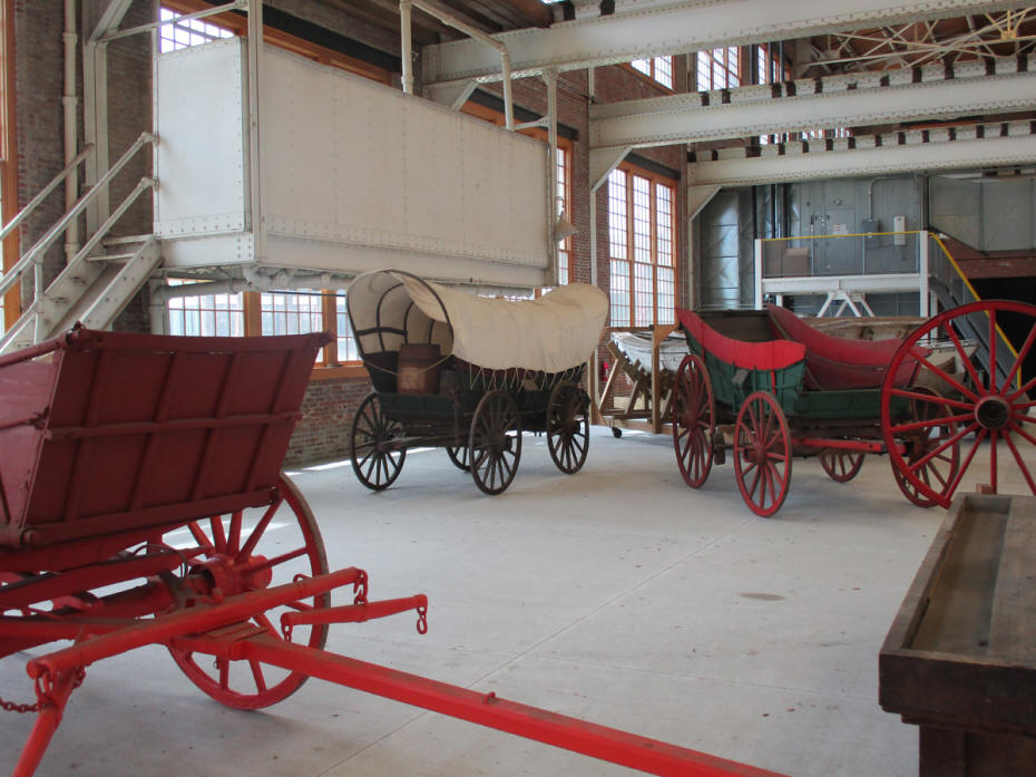 covered wagon and buggy