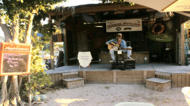 Musician at Schooner Wharf in Key West Florida