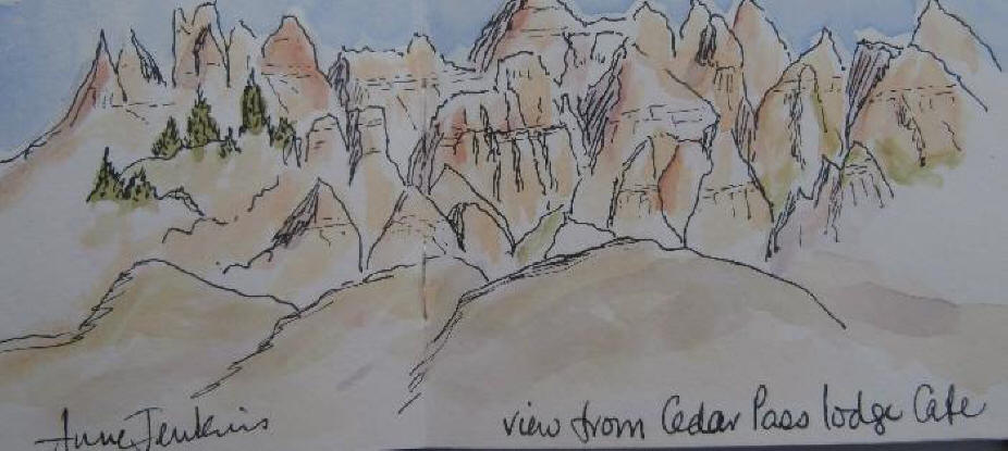 Sketch of Badlands National Park, S.D.