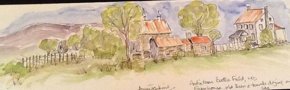 Sketch of farmhouse in the Antietam Park, M.D.