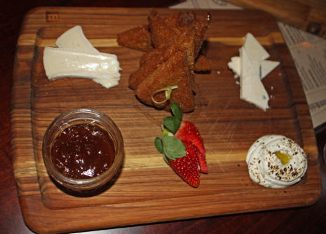a cheese board at the Edison