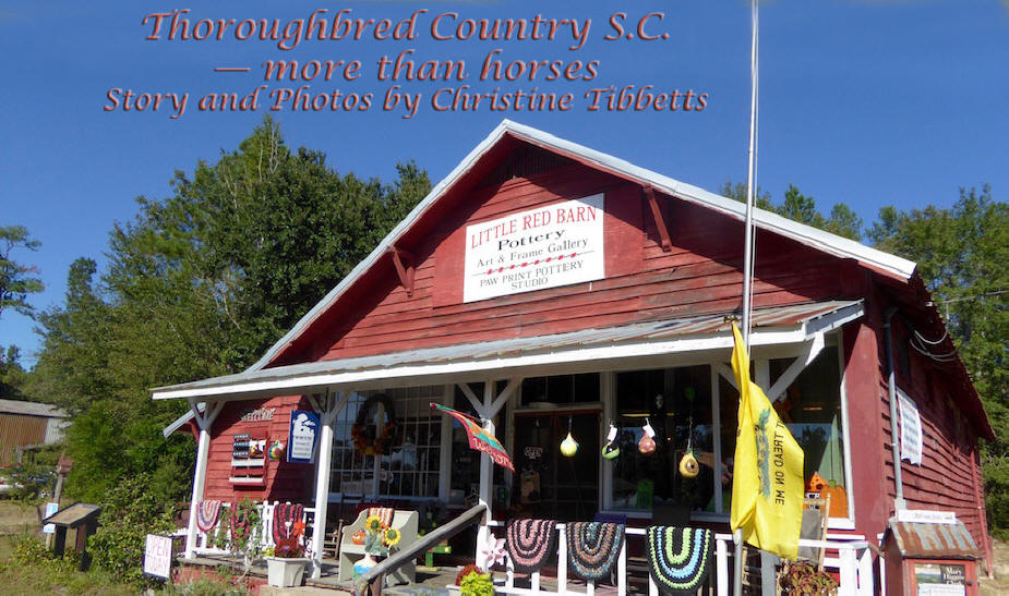 The Little Red Barn in Barnwell, SC used as header for Thoroughbred Country, SC