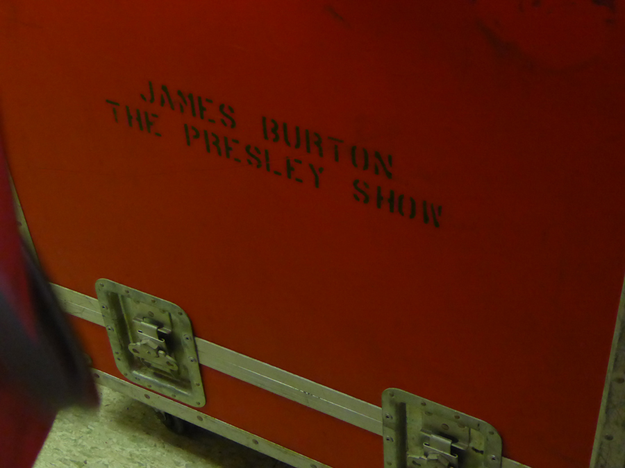 James Burton's locker when he played backup for Elvis Presleyin in James Burton foundation in Shreveport LAJames Burton foundation in Shreveport LA
