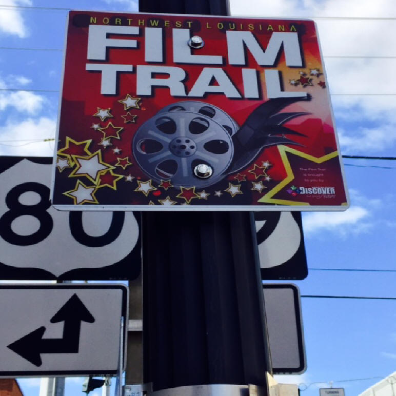 Film Trail sign in Webster Parish, LA