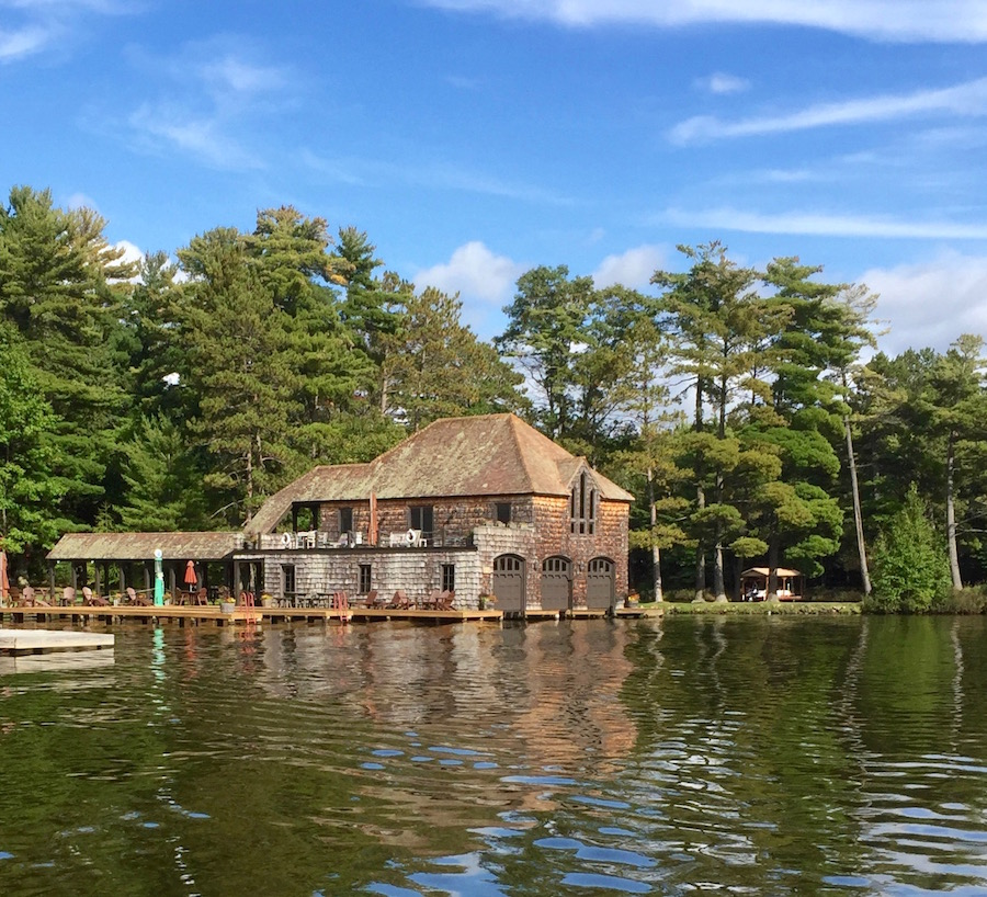 historic boathouse in wisconsin Northwoods