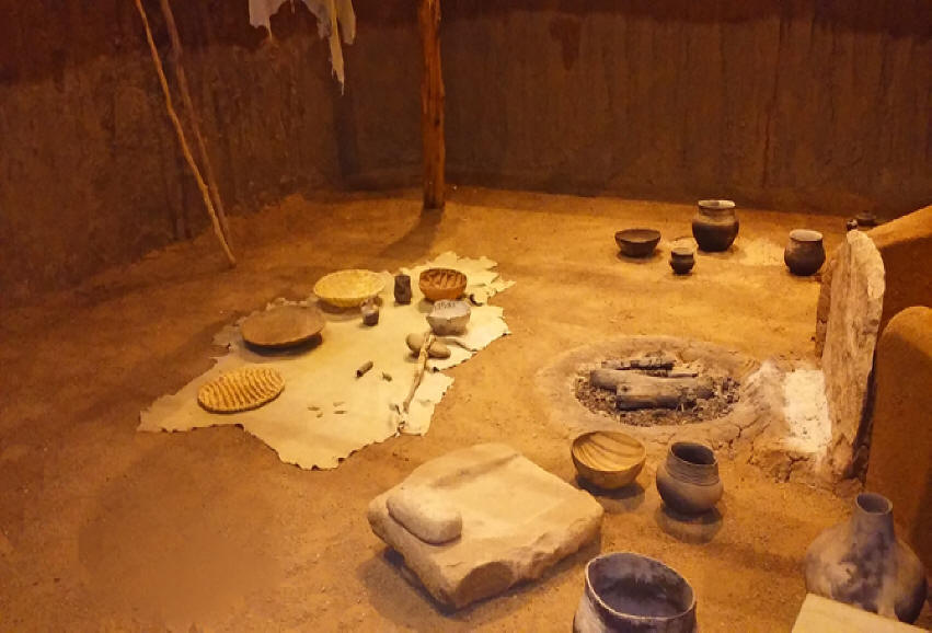 Pit house floor at Anasazi Heritage Center