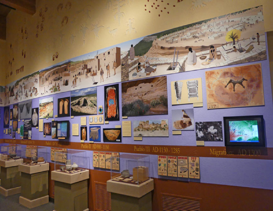 Timeline wall at Anasazi Heritage Center