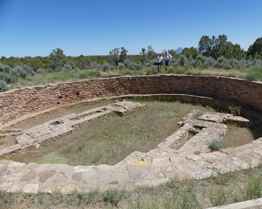 Great Kiva in Lowry Pueblo at Canyon of the Ancients