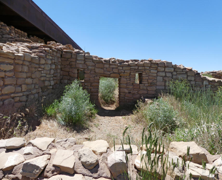 Portion of a pueblo at Lowry Pueblo in Canyon of the Ancients
