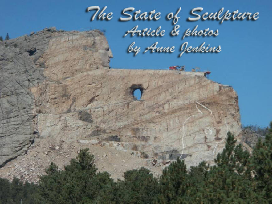 Crazy Horse Monument, a work in progress for many years, dominates the skyline in the Black Hills of South Dakota