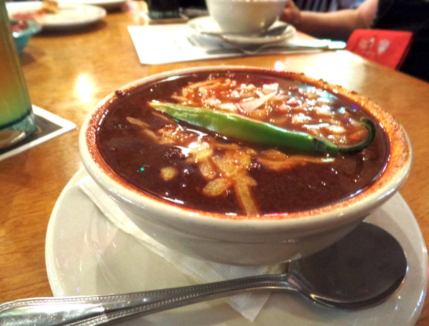 Bowl of chilie at Tolbert's in grapevine, Texas