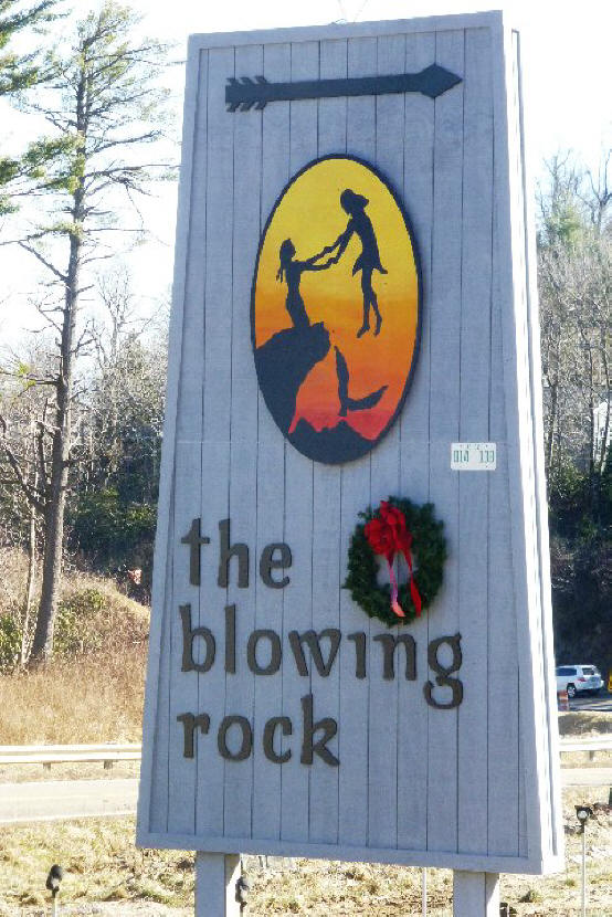 blowing rock sign