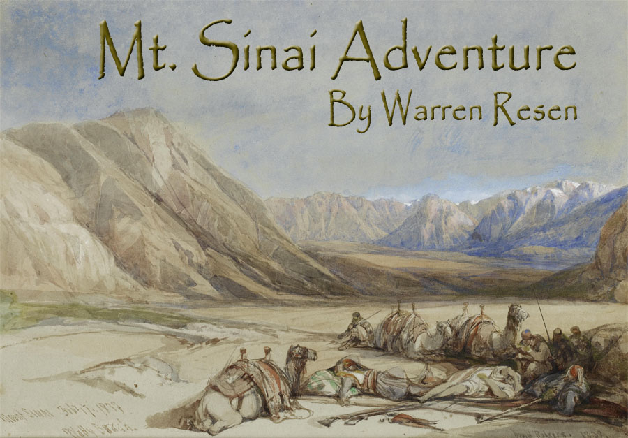 Signed and dated painting by 'David Roberts. 1839. inscribed and dated 'Mount Sinai Feby 17. 1839
