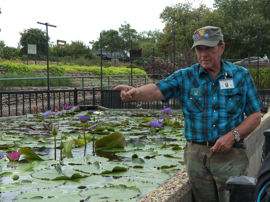 Ken Landon at International Waterlily Collection