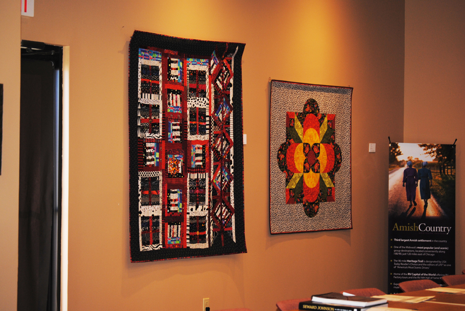 quilts displayed at Elkhart County Convention and Visitors Center