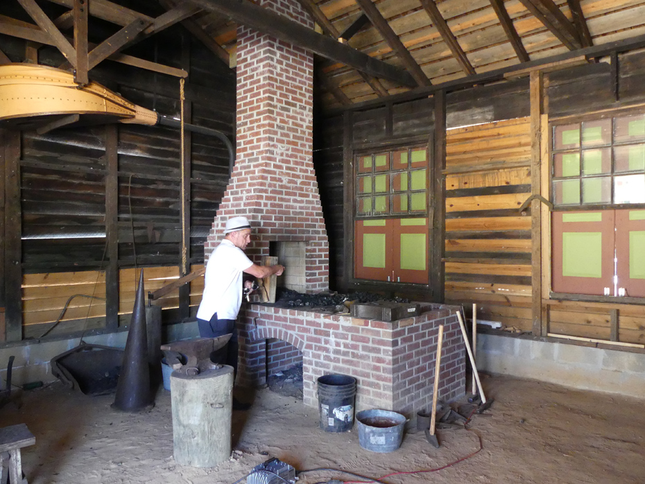 Blacksmith's shop in Westville