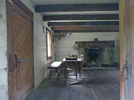 Interior of cabin at Abram's Delight