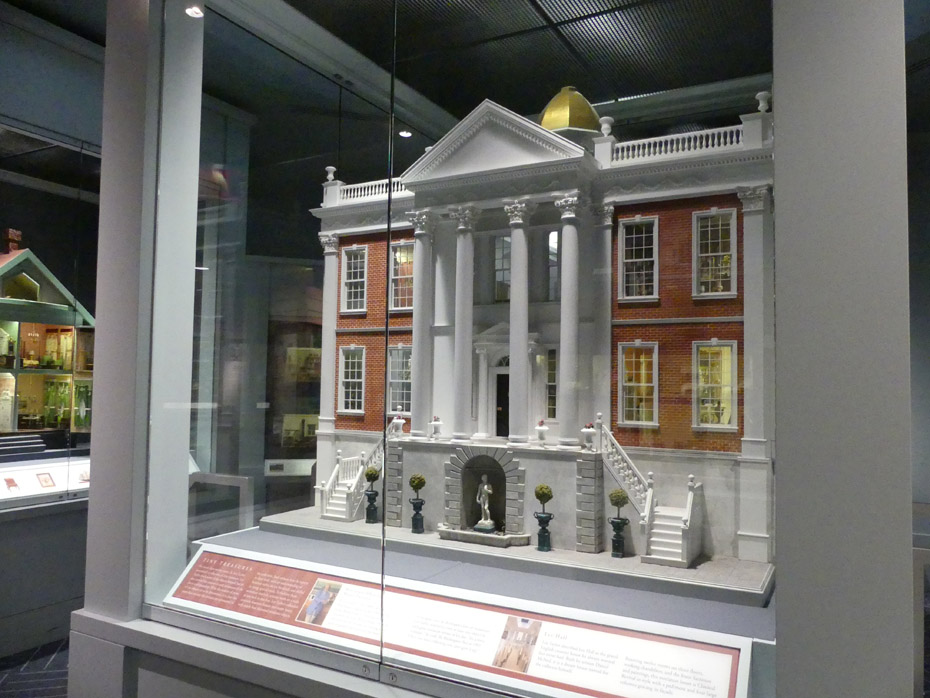 minature of greek revival home at Museum of Shenandore