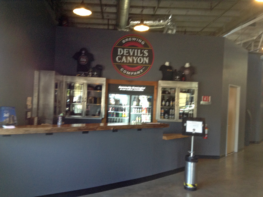Entryway to Devil's Canyon Brewing in San Carlo