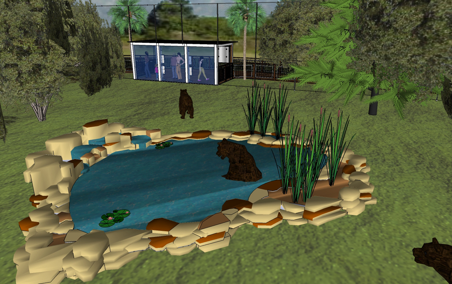 sketch of Black Bear Habitat planned for Central Florida Zoo
