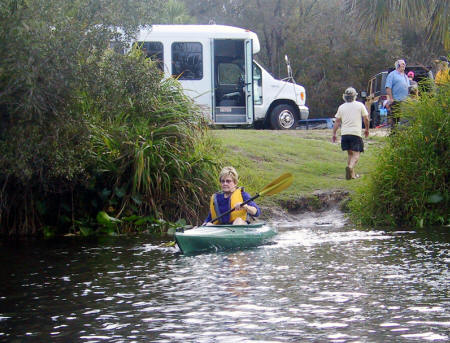 Kayaker launches into Shell Creek
