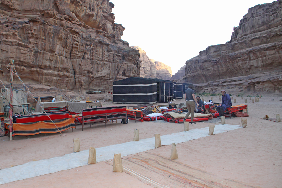 private Captains Camp in Wadi Rum
